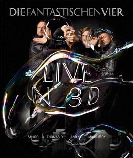 Die Fantastischen Vier Live in 3D - 3D Blu-ray cover