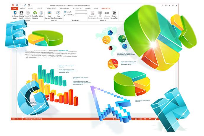 Presente3D v1.0 Add-on für Präsentationen in PowerPoint