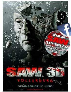 Saw 3d - 3D Film Tailer und Filminfo Contest bis 19.10.10